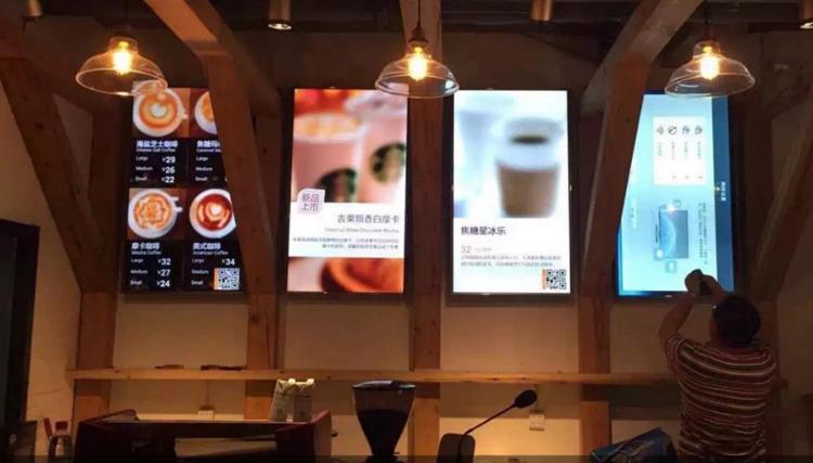 液晶广告机在饮食行业的作用